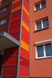 Buntes Blockhaus stockbild