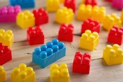 Buntes Blockspielzeug Stockbild