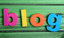 Buntes Blogwort Lizenzfreies Stockbild