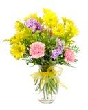 Buntes Blumenanordnungsmittelstück lizenzfreie stockbilder
