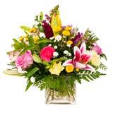 Buntes Blumenblumenstrauß-Anordnungsmittelstück Lizenzfreie Stockfotos