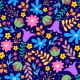 Buntes Blumenmuster lizenzfreie stockfotos