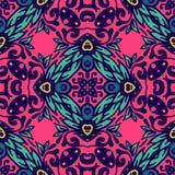 Buntes Blumenvektor-Muster Stockfotos