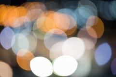 Buntes boke vom Stadtlicht Stockfotos