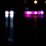 Buntes bokeh auf einem dunklen Hintergrund Stockfotografie