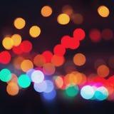 Buntes bokeh auf einem dunklen Hintergrund Defocused bokeh lignts Abstraktes Weihnachten-batskground Abstrakter Kreis-bokeh Hinte Stockfotografie