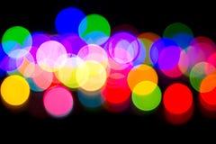 Buntes bokeh von Lichtern Stockfotografie