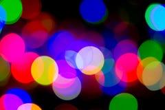 Buntes bokeh von Lichtern Stockfoto