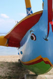 Buntes Boot Tradiional Jakung auf Bali Lizenzfreie Stockfotos