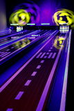 Buntes Bowlingspiel Lizenzfreie Stockfotos