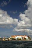 Buntes Buidings in Curaçao lizenzfreies stockbild