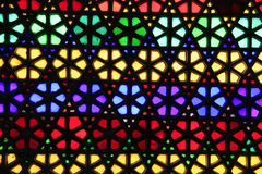 Buntes Buntglasfenster Stockfotografie
