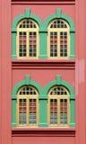 Buntes Chinatown-Fenster Stockbild