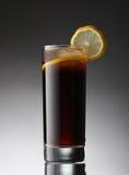 Buntes Cocktail verzierte Zitronenscheibe Stockbild