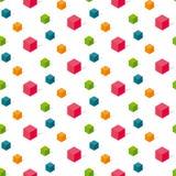 Buntes conncept geomerty nahtloses Muster Lizenzfreies Stockbild