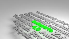 Buntes 3D Industrie 4 0 Wortwolke Lizenzfreie Stockbilder