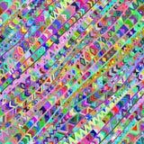 Buntes diagonales nahtloses Muster vektor abbildung