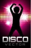 Disco-Parteiplakat Stockfotografie