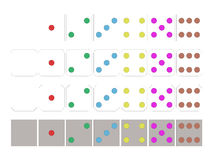 Buntes Dominomuster lizenzfreie abbildung