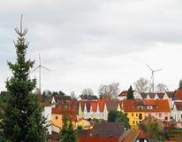 Buntes Dorf im Winter Lizenzfreie Stockfotos