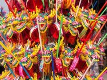 Buntes Drachespielzeug für Chinesisches Neujahrsfest Lizenzfreies Stockfoto