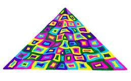 Buntes Dreieck auf Weiß Stockbild