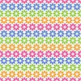 Buntes einfaches nahtloses Muster mit geometrischer Verzierung Lizenzfreie Stockfotografie