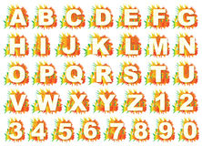 Buntes Englisch bezeichnet a bis z mit Buchstaben Stockbild