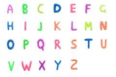 Buntes englisches Alphabet lizenzfreie stockfotografie