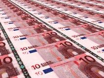 Buntes europäisches Bargeld 10 Euro Stockbild