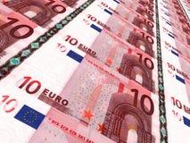 Buntes europäisches Bargeld 10 Euro Stockfotografie