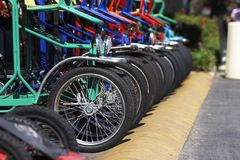 Buntes Fahrrad Lizenzfreie Stockfotografie