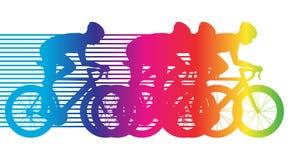 Buntes Fahrradreiten Stockbild
