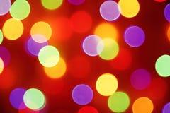 Buntes Feiertag bokeh Unschärfelicht Abstraktes Weihnachten oder neue Jastimme Lizenzfreie Stockfotos