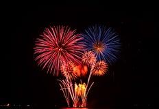 Buntes Feuerwerk stockfoto