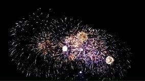 Buntes Feuerwerk mit startendem Ton 1080p stock video