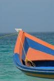 Buntes Fischerboot Stockfoto