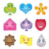 Buntes Form-flaches Design-gesetztes geometrisches für Kinder Lizenzfreies Stockfoto