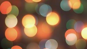 Buntes funkelndes bokeh und Blinklichter lizenzfreie stockbilder
