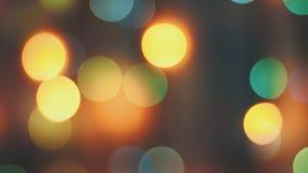 Buntes funkelndes bokeh und Blinklichter stockfoto