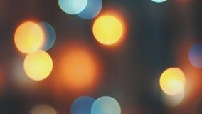 Buntes funkelndes bokeh und Blinklichter lizenzfreie stockfotografie