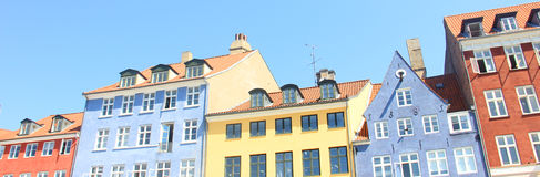 Buntes Gebäude Stockfoto