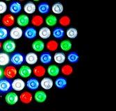 Buntes geführtes Licht auf Hintergrund Stockfoto