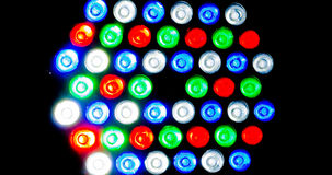 Buntes geführtes Licht auf Hintergrund Stockfotografie