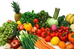 Buntes Gemüse und Früchte Stockfoto