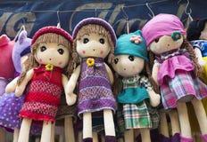 Buntes gemacht in China-Marionetten und -Teddybären für Verkauf Stockfotografie