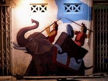 Buntes gemaltes Haus in Melaka Lizenzfreie Stockfotografie