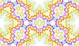 Buntes geometrisches Aquarell Blendungs-nahtloses Muster Hand gezeichnete Streifen Bürstenbeschaffenheit Favorab stockbilder