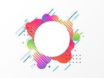 Buntes geometrisches Element, abstrakter Hintergrund Lizenzfreie Stockfotos