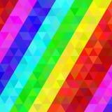 Buntes geometrisches Muster in den Regenbogenfarben Stockfoto